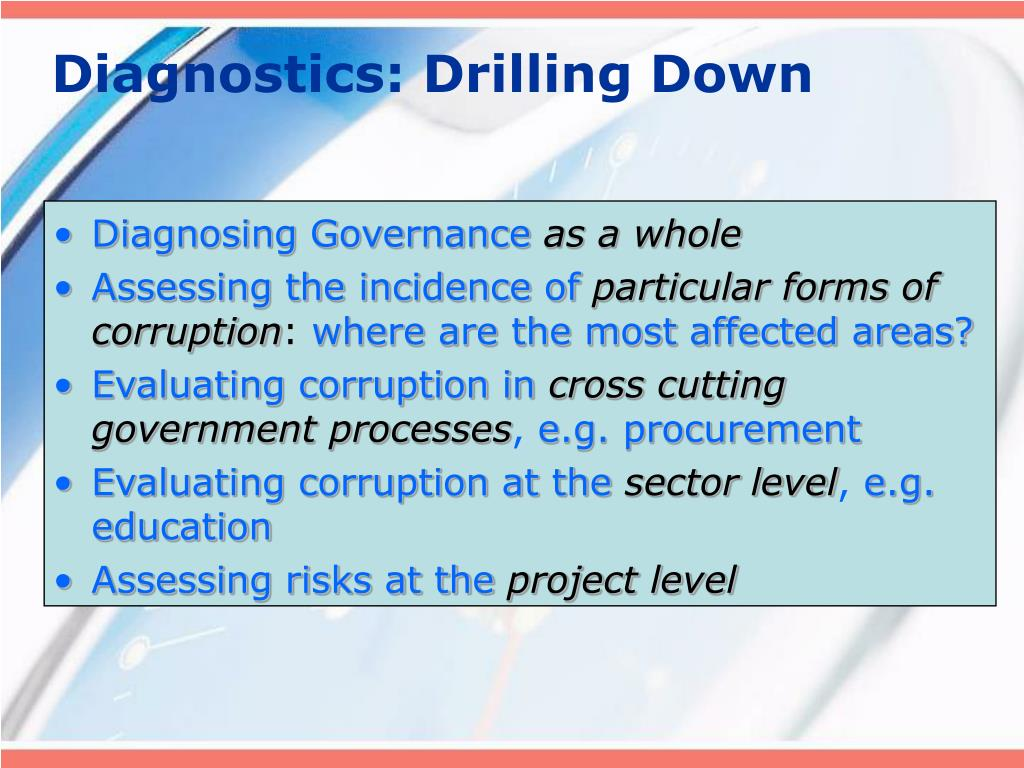 Diagnostics: Drilling Down