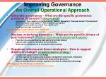 improving governance an overall operational approach