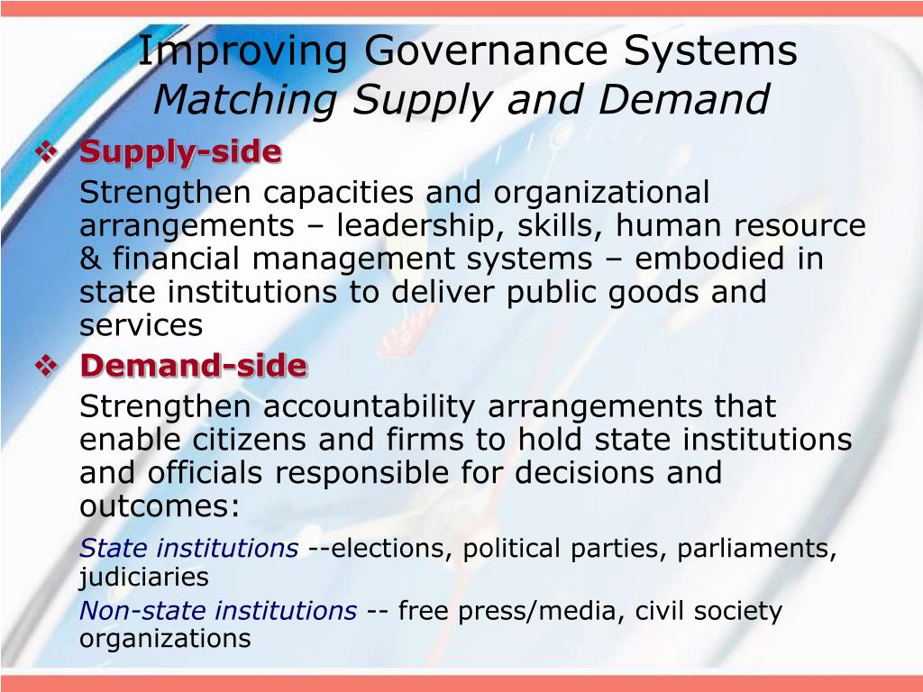Improving Governance Systems