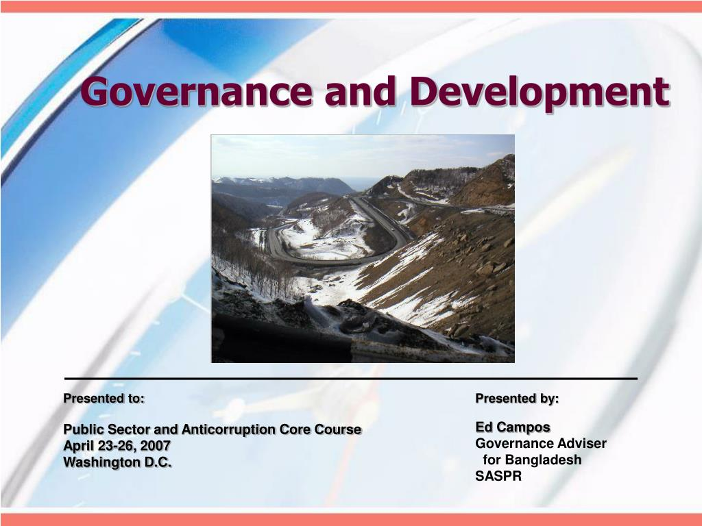 Governance and Development
