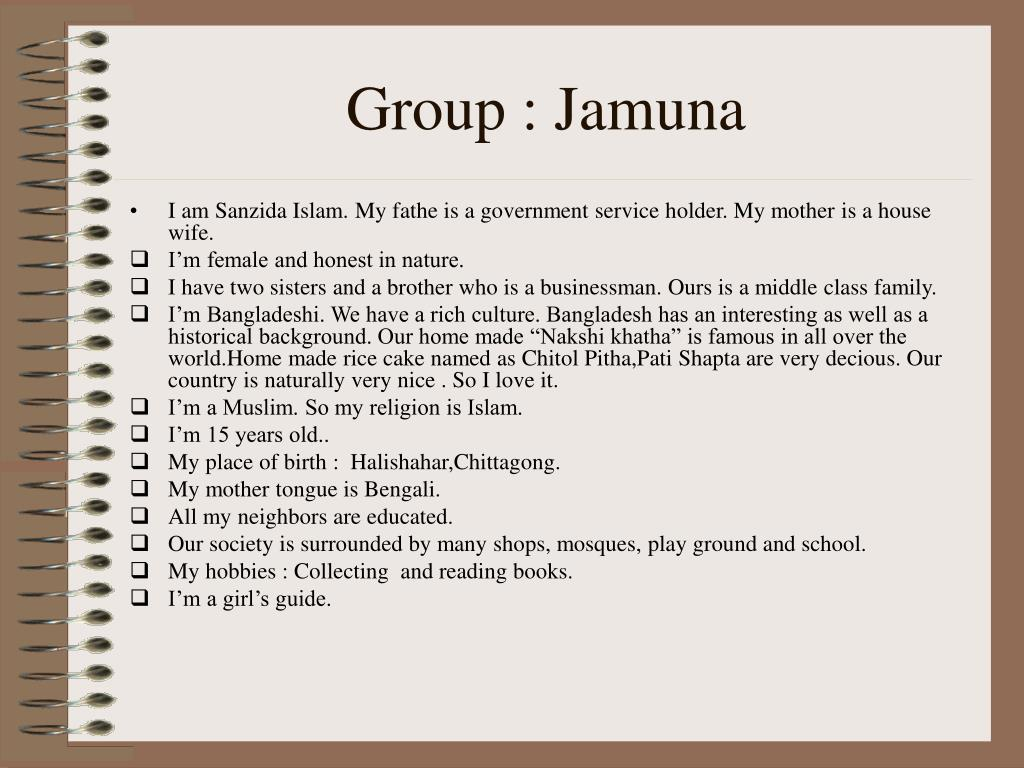 Group : Jamuna