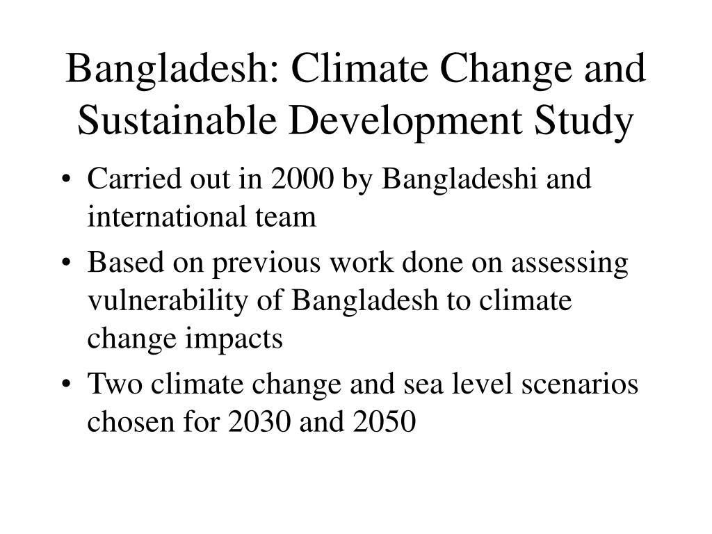 Bangladesh: Climate Change and Sustainable Development Study