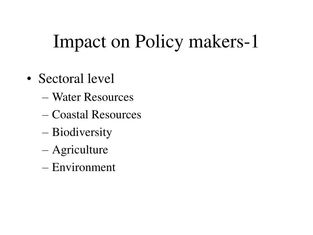 Impact on Policy makers-1