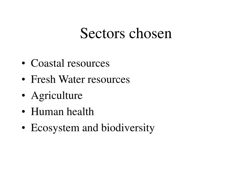 Sectors chosen