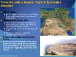 trans boundary issues tigris euphrates disputes