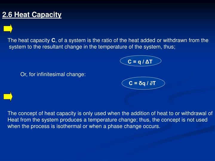 2.6 Heat Capacity