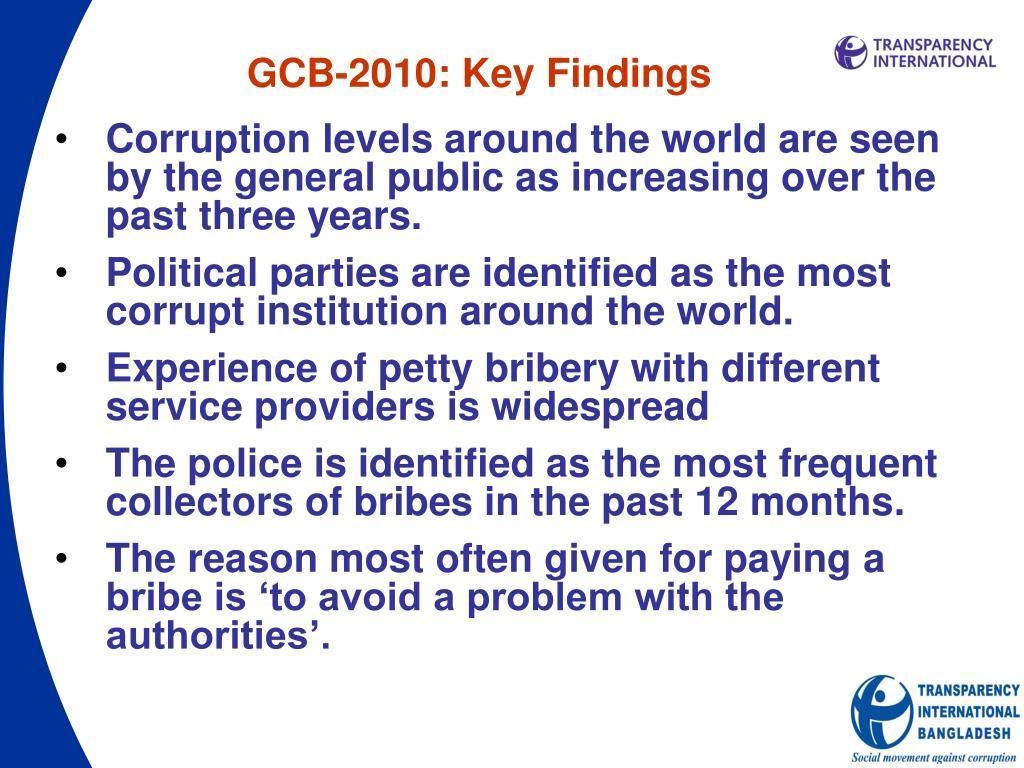 GCB-2010: Key Findings