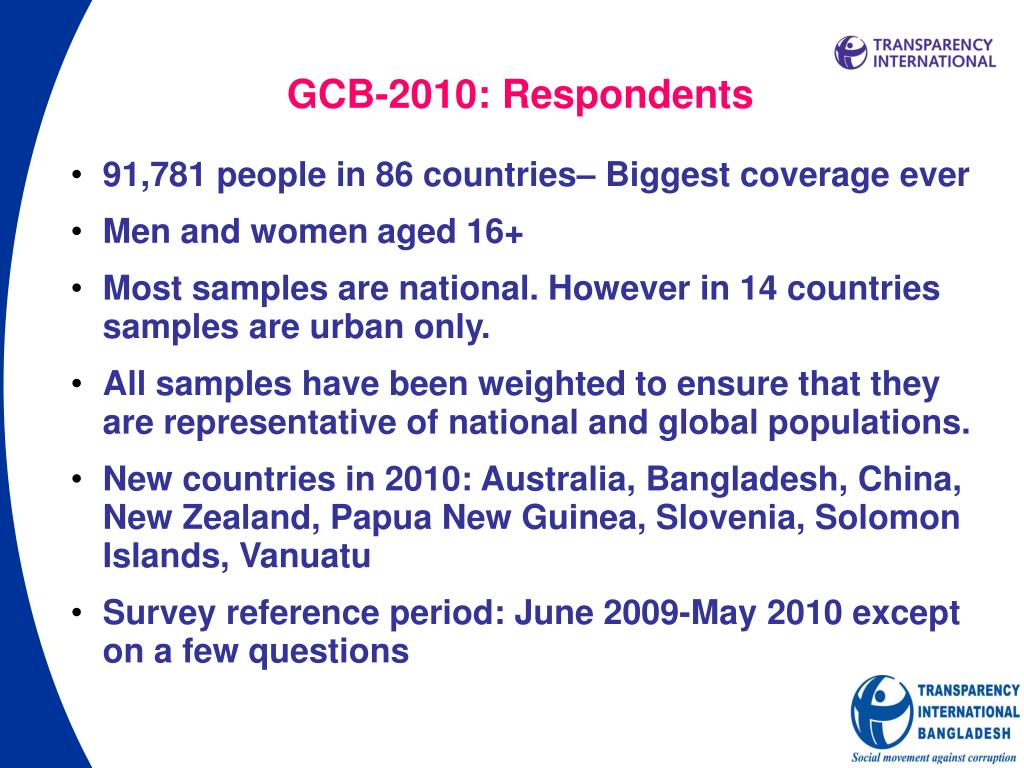 GCB-2010: Respondents