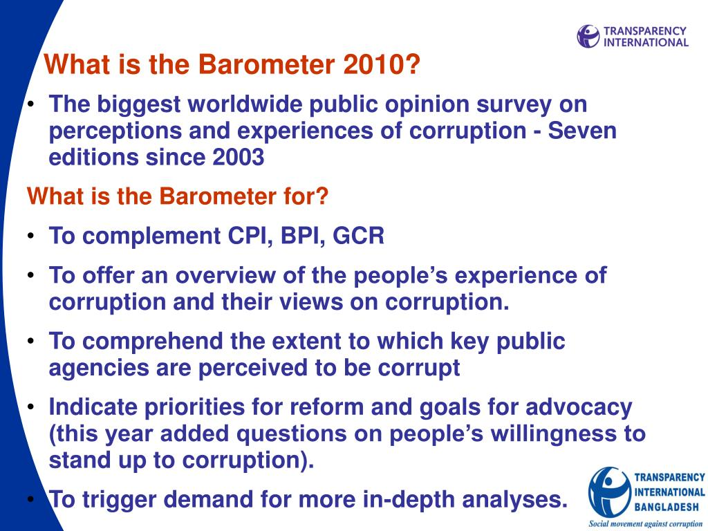 What is the Barometer 2010?
