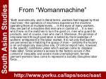 from womanmachine