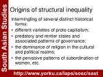 origins of structural inequality