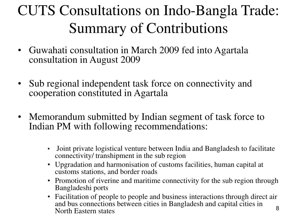 CUTS Consultations on Indo-Bangla Trade: Summary of Contributions