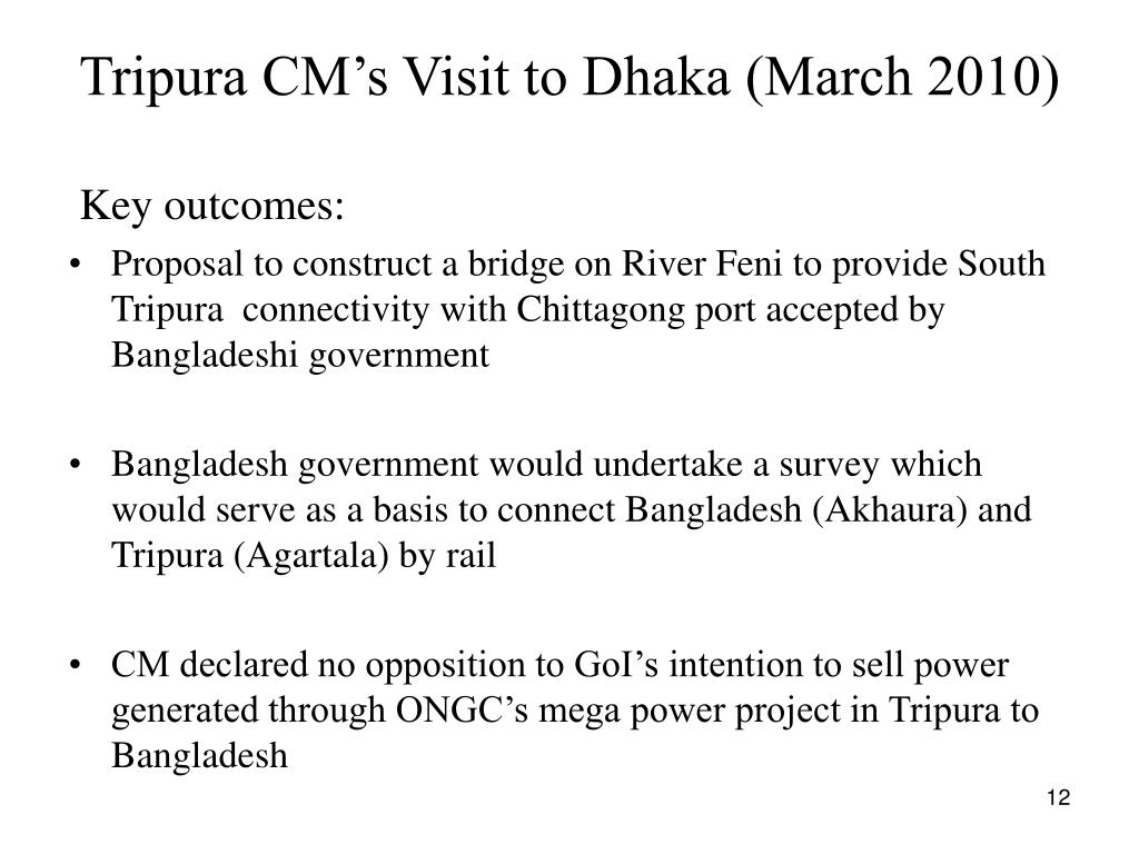 Tripura CM's Visit to Dhaka (March 2010)