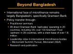 beyond bangladesh