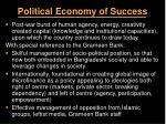 political economy of success