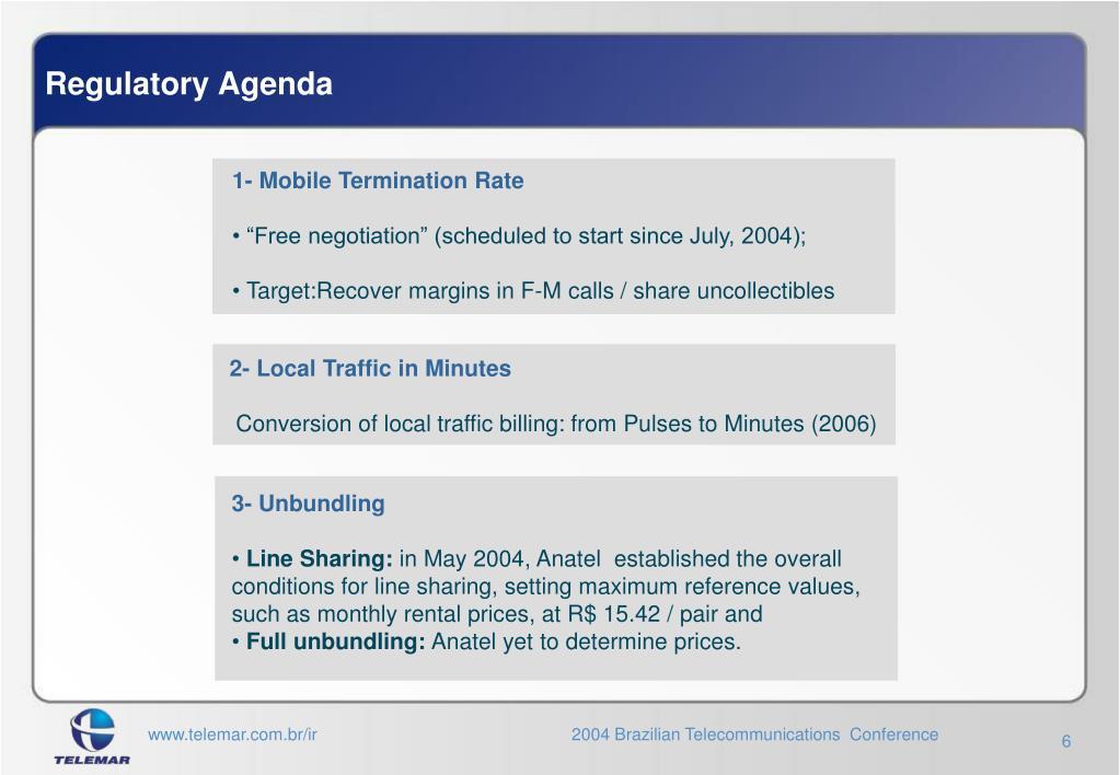 Regulatory Agenda