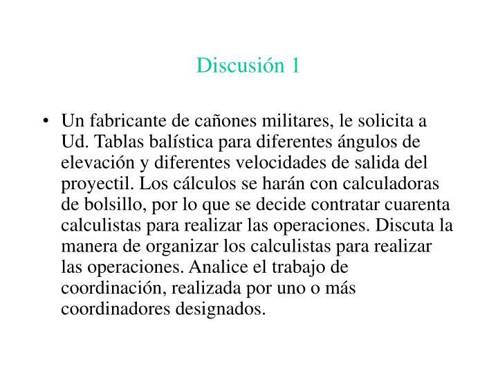 Discusión 1