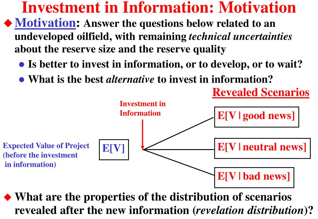 Investment in Information: Motivation