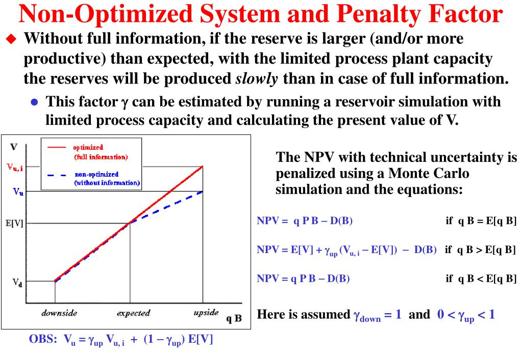 Non-Optimized System and Penalty Factor