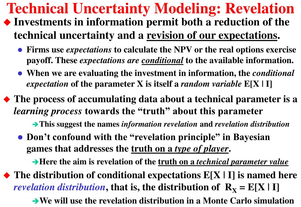 Technical Uncertainty Modeling: Revelation