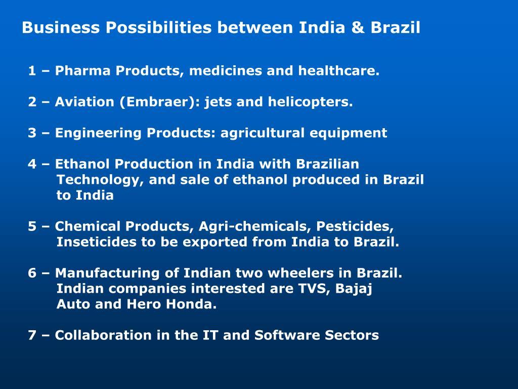 Business Possibilities between India & Brazil