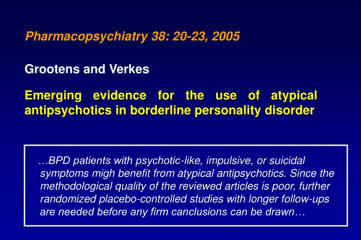 Pharmacopsychiatry 38: 20-23, 2005