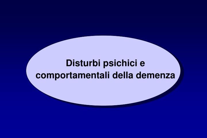 Disturbi psichici e