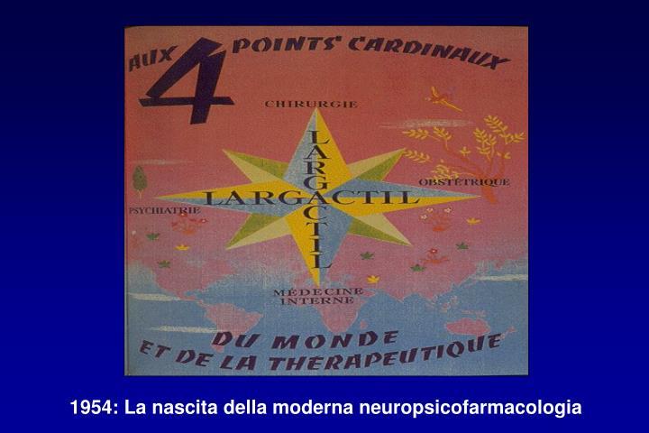 1954: La nascita della moderna neuropsicofarmacologia