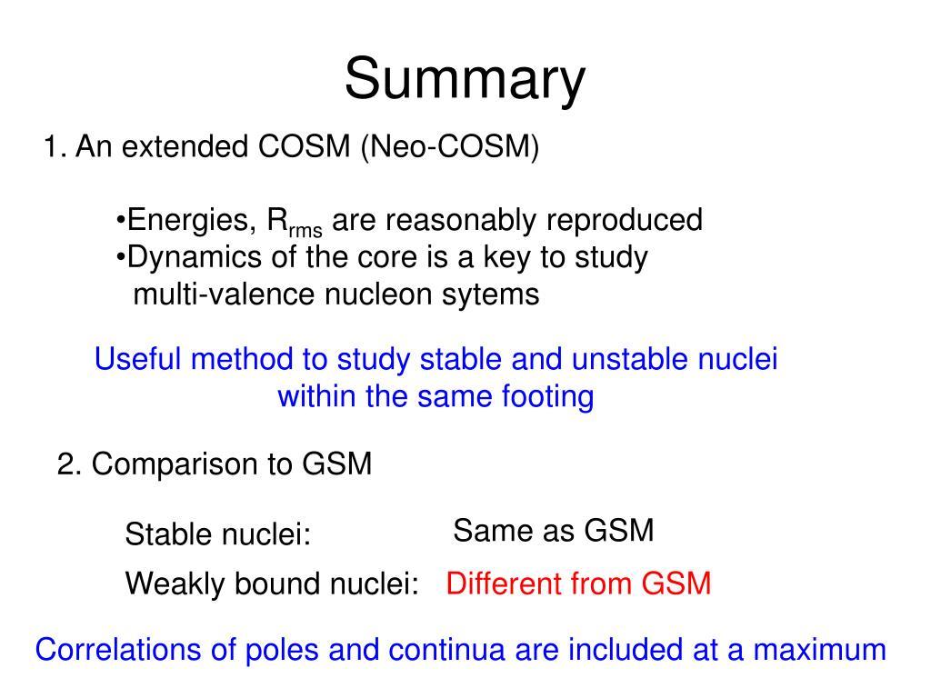 2. Comparison to GSM