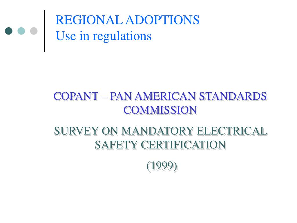 COPANT – PAN AMERICAN STANDARDS COMMISSION