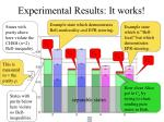 experimental results it works