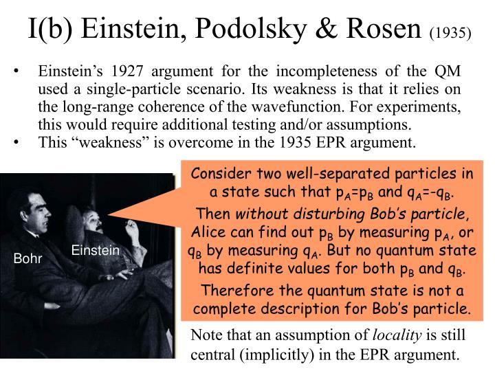 I(b) Einstein, Podolsky & Rosen