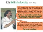 i d bell nonlocality 1964 1981