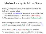 ii b nonlocality for mixed states