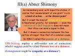 iii a abner shimony