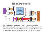 iii c experiment