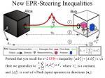 new epr steering inequalities