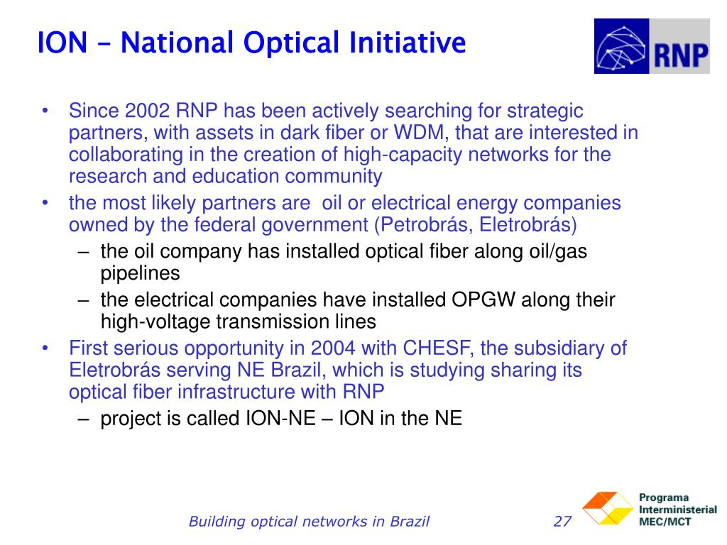 ION – National Optical Initiative