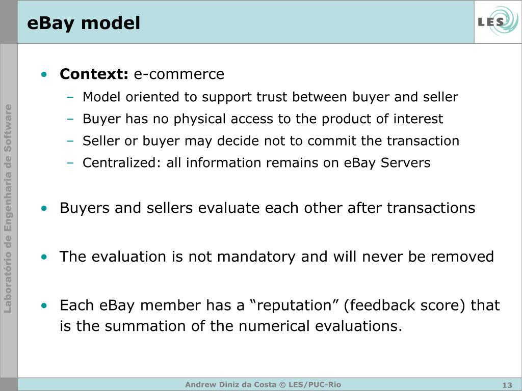 eBay model