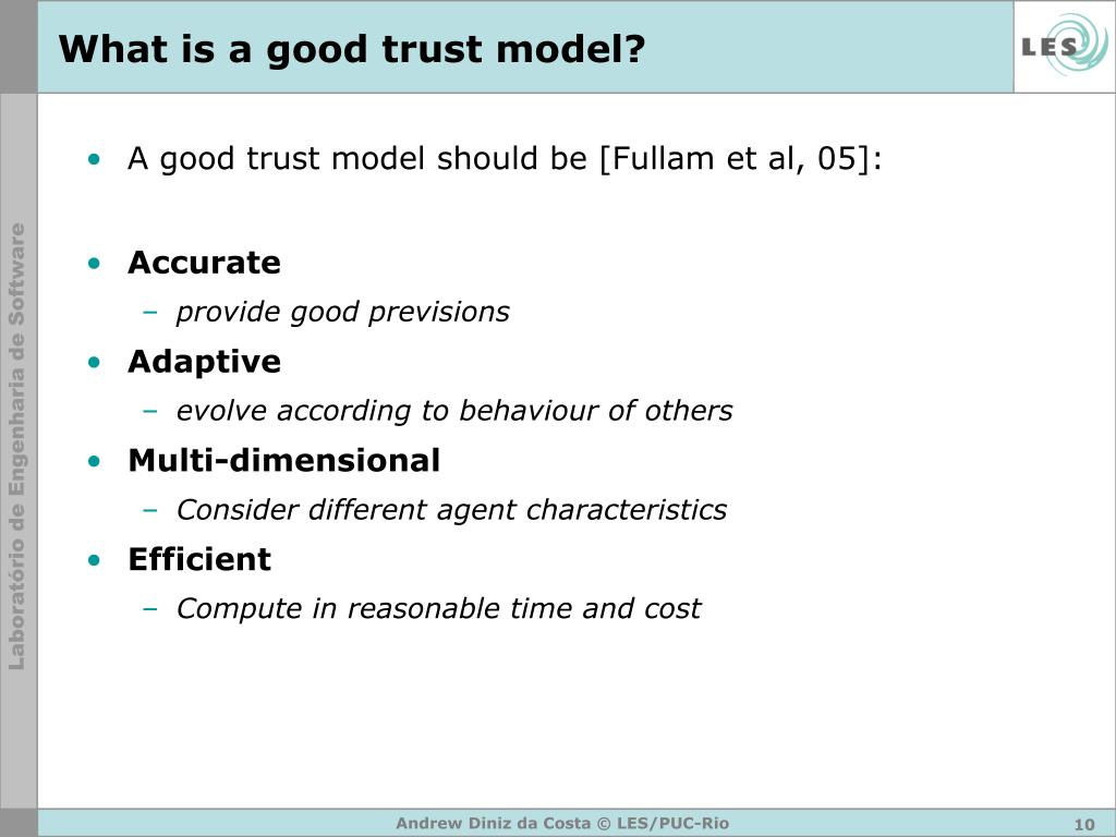 What is a good trust model?