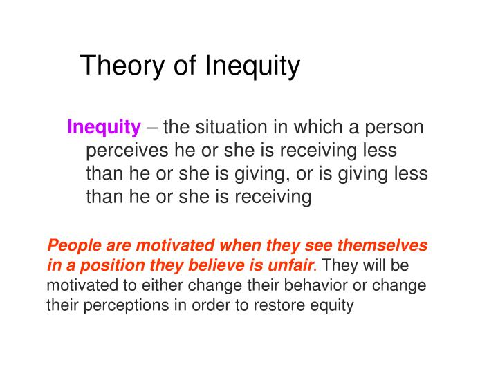 Theory of Inequity