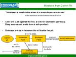 biodiesel from cotton pit