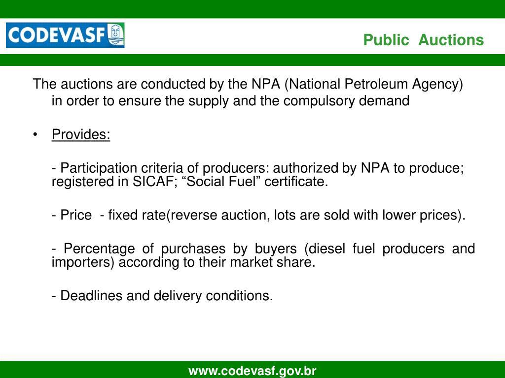 Public  Auctions