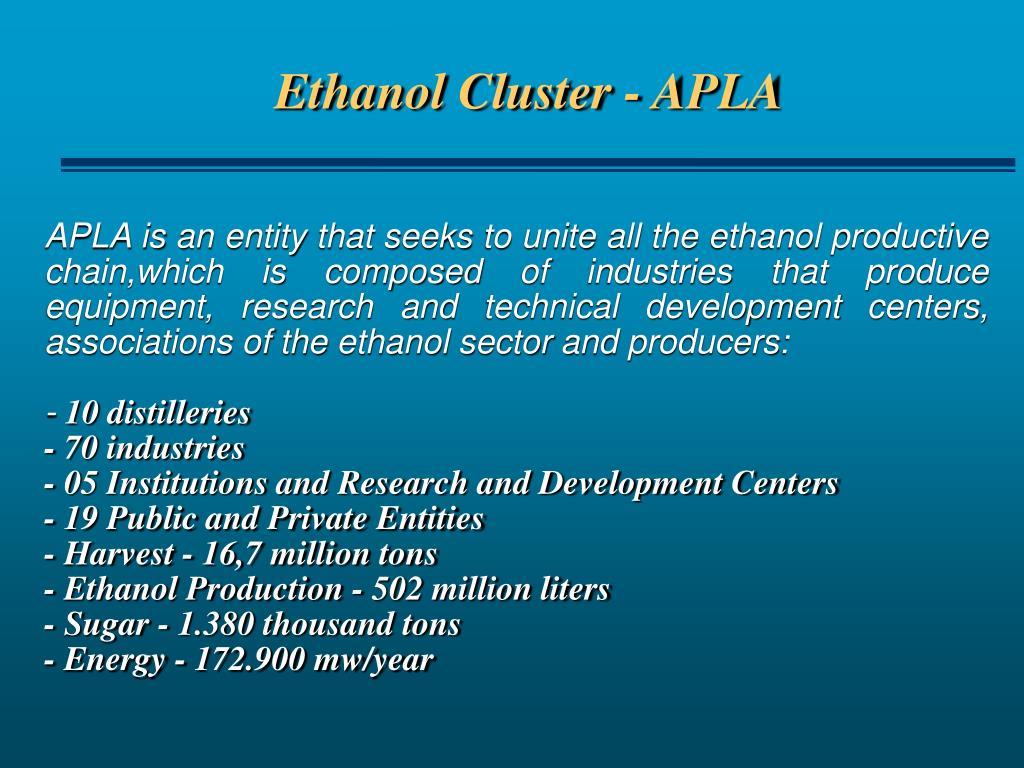 Ethanol Cluster - APLA
