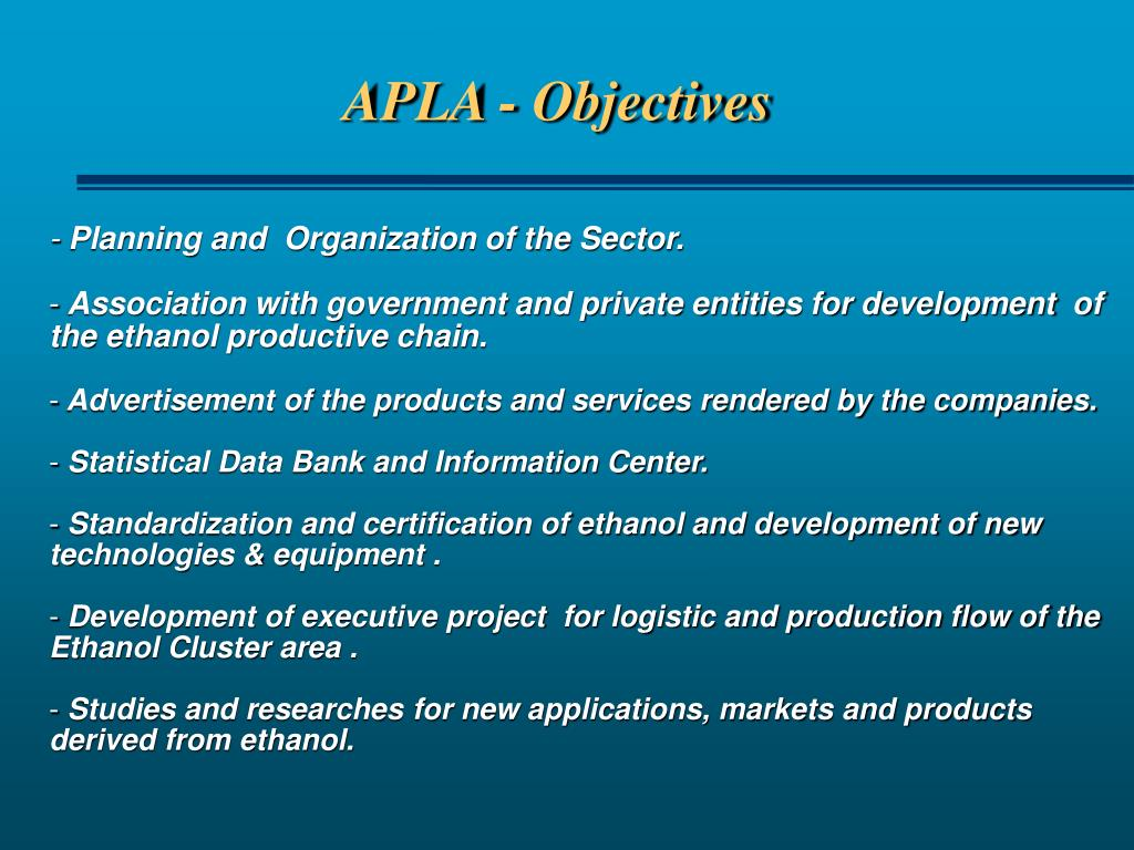 APLA - Objectives