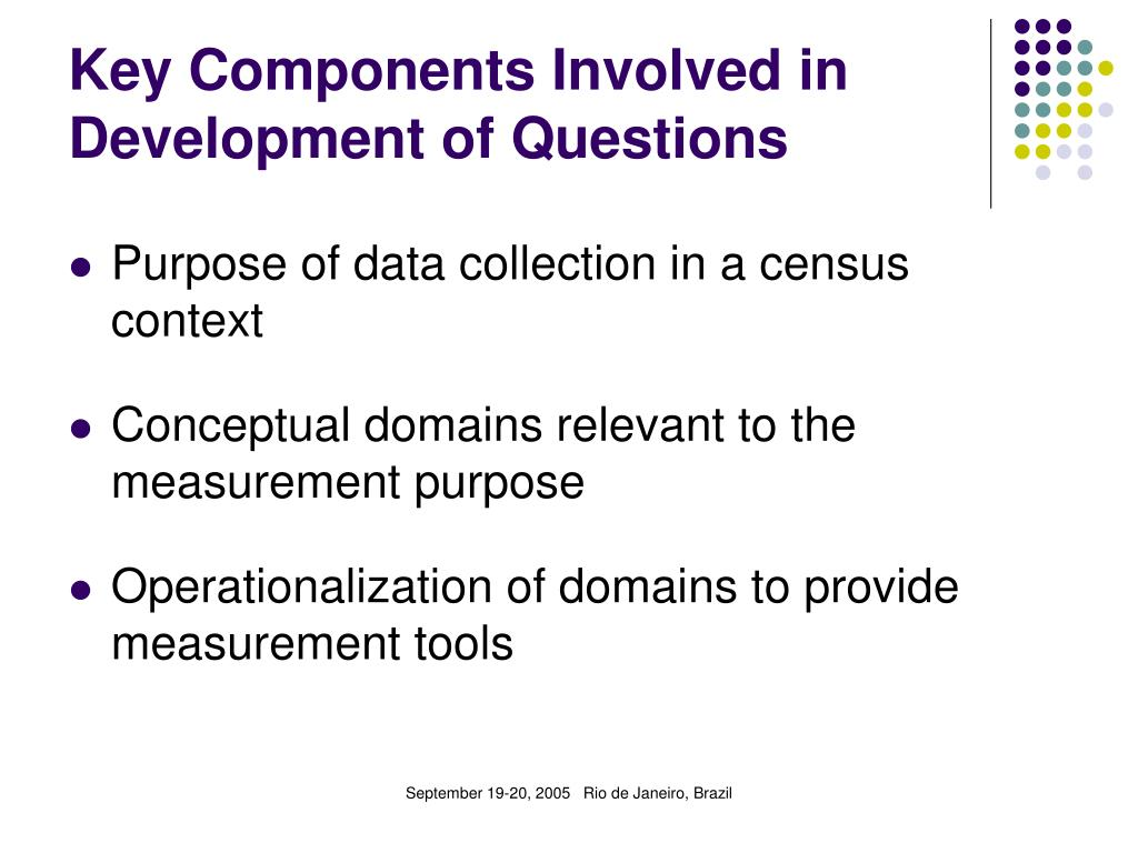 Key Components Involved in Development of Questions