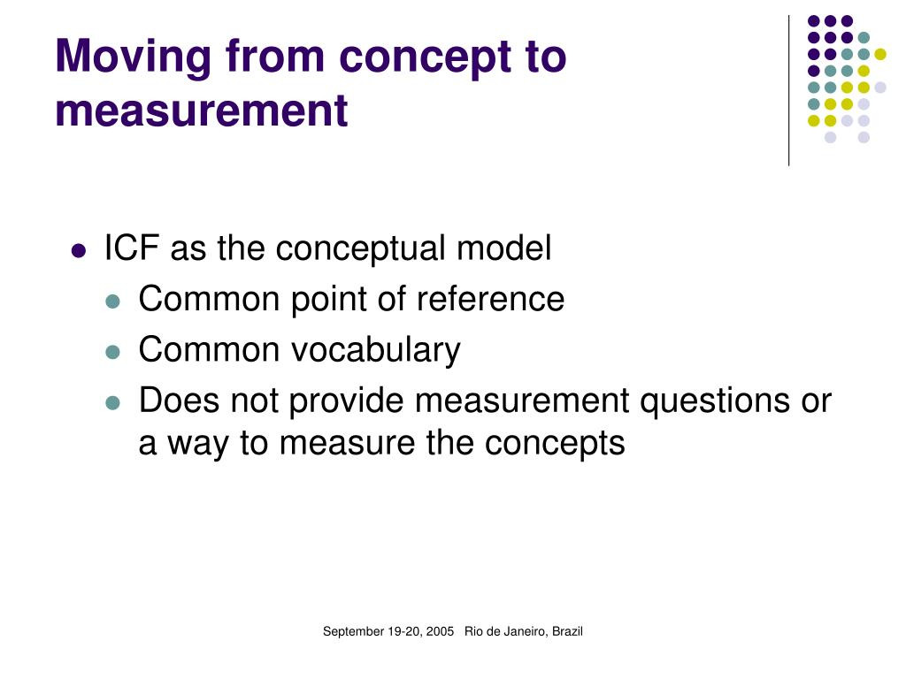 Moving from concept to measurement
