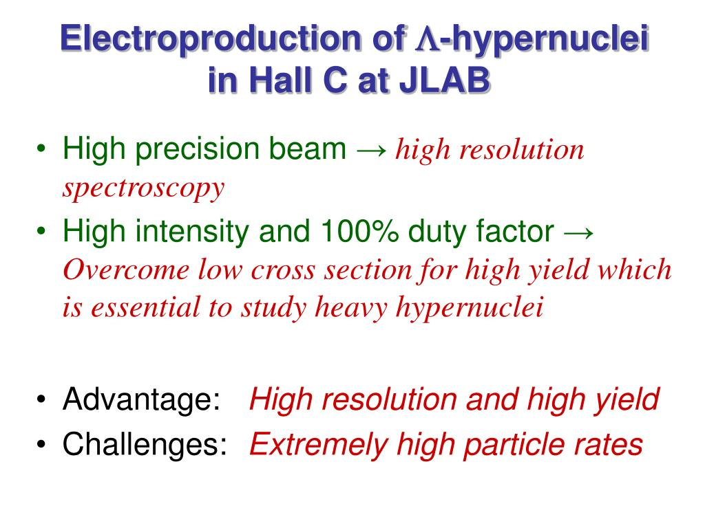 Electroproduction of