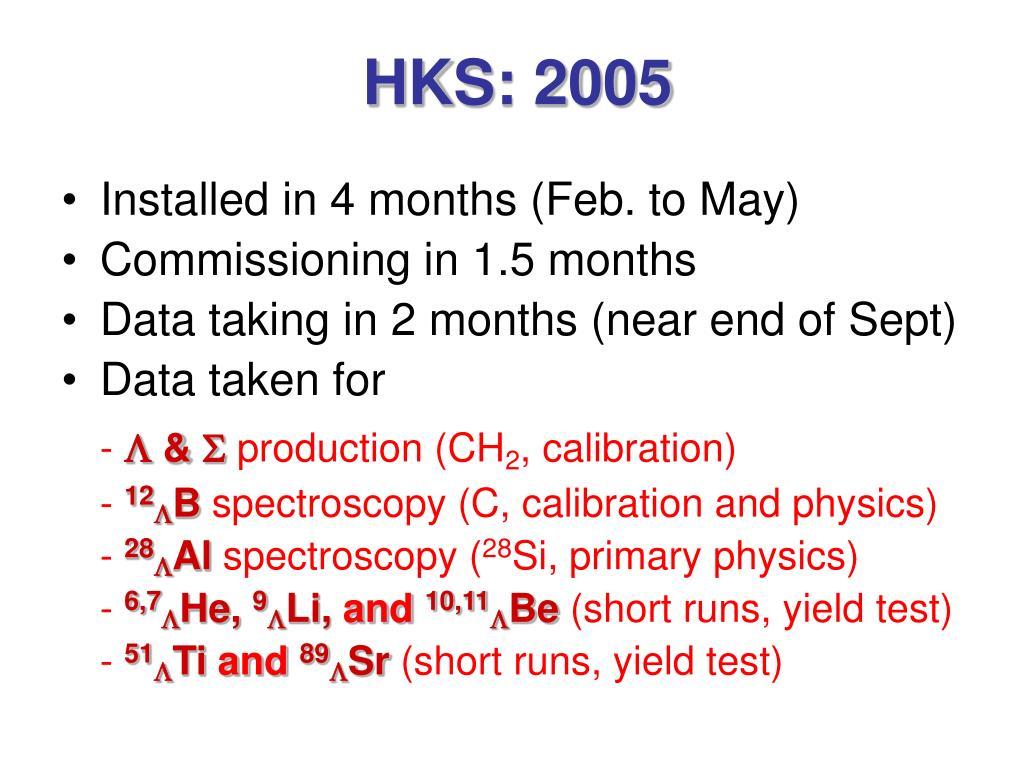 HKS: 2005
