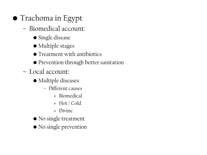 Trachoma in Egypt